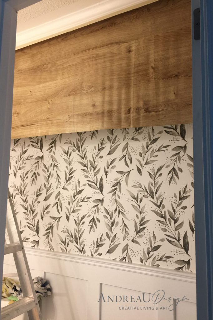 Cutting Contact Paper for Faux Wood Beam