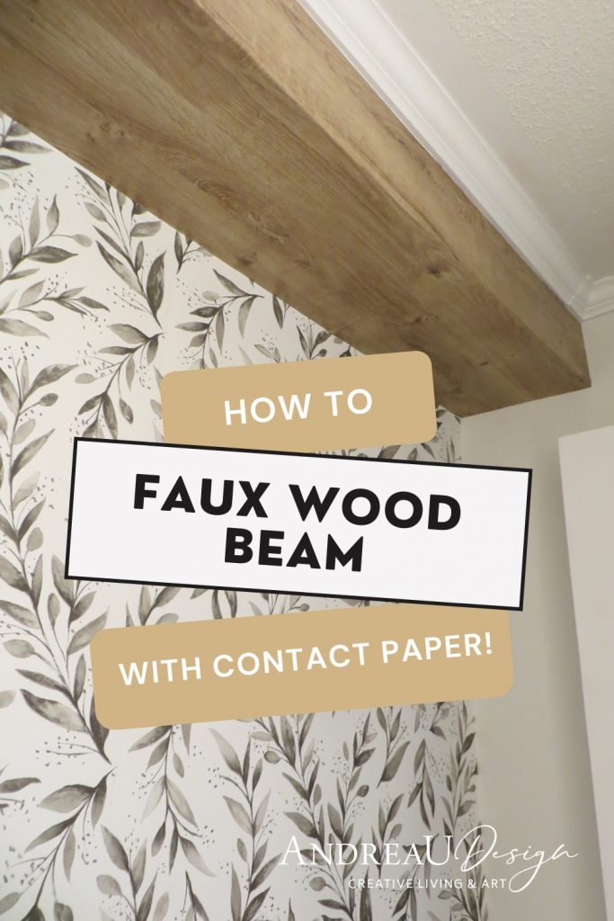 How to make a faux wood bulkbeam beam using contact paper